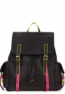 SURI FREY Rucksack SURI Black Label FIVE groß Schwarz 16004167 black/pink 167